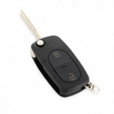 Carcasă cheie tip briceag - 2+1 butoane - Audi