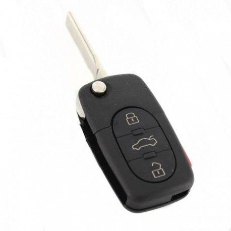 Carcasă cheie tip briceag, 3+1 butoane - Audi