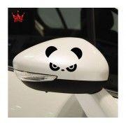 Sticker oglinda Angry Panda