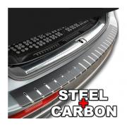 Protectie portbagaj - Crom si Carbon Gri Argintiu