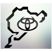 Sticker auto geam Toyota logo