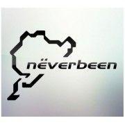 Sticker auto geam Neverbeen