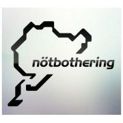 Sticker auto geam Notbothering