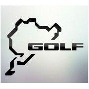Sticker auto geam Golf