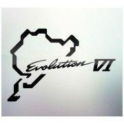 Sticker auto geam Evolution VI