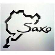 Sticker auto geam Saxo
