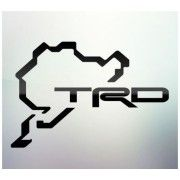 Sticker auto geam TRD