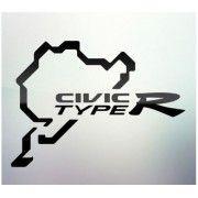 Sticker auto geam Civic
