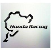 Sticker auto geam Honda Racing