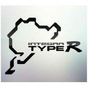 Sticker auto geam Integra Type R