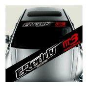 Sticker parasolar auto Greddy Mazda