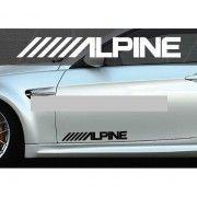 Set 2 buc. sticker auto lateral - ALPINE