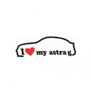 Sticker I Love My Astra G