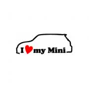 Sticker I Love My Mini