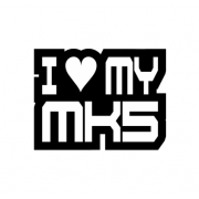 Sticker I Love My Mk5