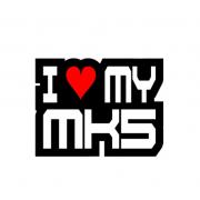 Sticker I Love My Mk5 (v2)