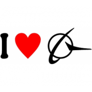 Sticker I Love Boeing Sigla