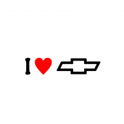Sticker I Love Chevrolet Sigla