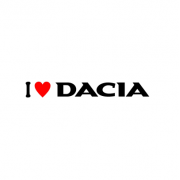 Sticker I Love Dacia (v2)