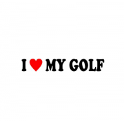 Sticker I Love My Golf