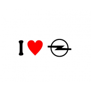 Sticker I Love Opel Sigla