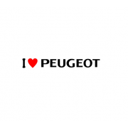 Sticker I Love Peugeot