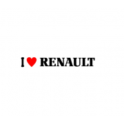 Sticker I Love Renault