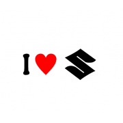 Sticker I Love Suzuki Sigla