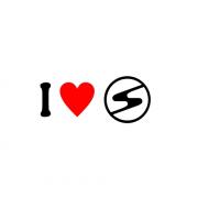 Sticker I Love Trabant Sigla