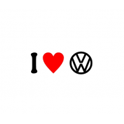 Sticker I Love Volkswagen Sigla