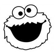 Stickere auto Cookie Monster