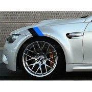 Sticker ornament auto BMW Flag - Black/Blue