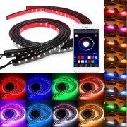 Set Banda Led SMD RGB Undercar cu Bluetooth